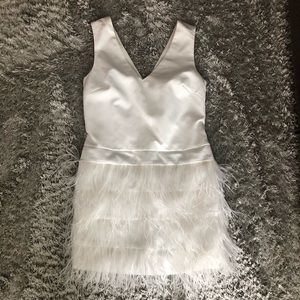 Ark & Co White Feather Dress